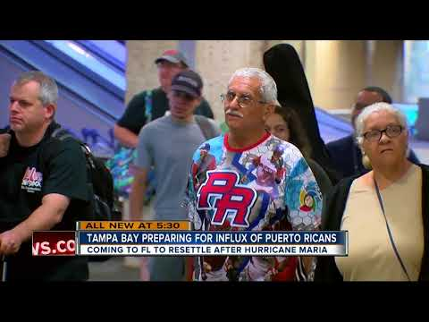 Tampa preparing for a possible population influx as Puerto Rican evacuees arrive in mainland