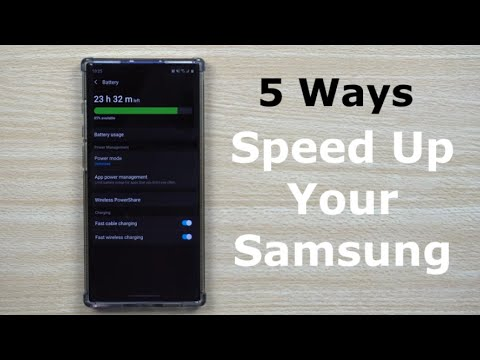 5 Ways To SPEED Up Your Samsung - Quicker, Faster & Stronger