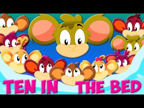 Ten in The Bed   Nursery Rhymes   Children Songs   Videos for Kids And Babies