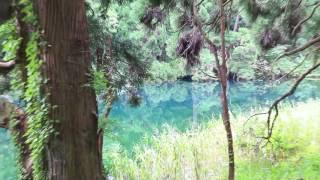 秋田019【男鹿半島・滝の頭】男鹿市《青く澄んだ水源池》