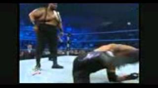 الاندر تيكر وبيج دادي اقوى مباراة مصارعة حرة
