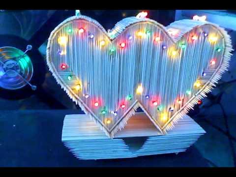 Quà tặng trái tim bằng tăm