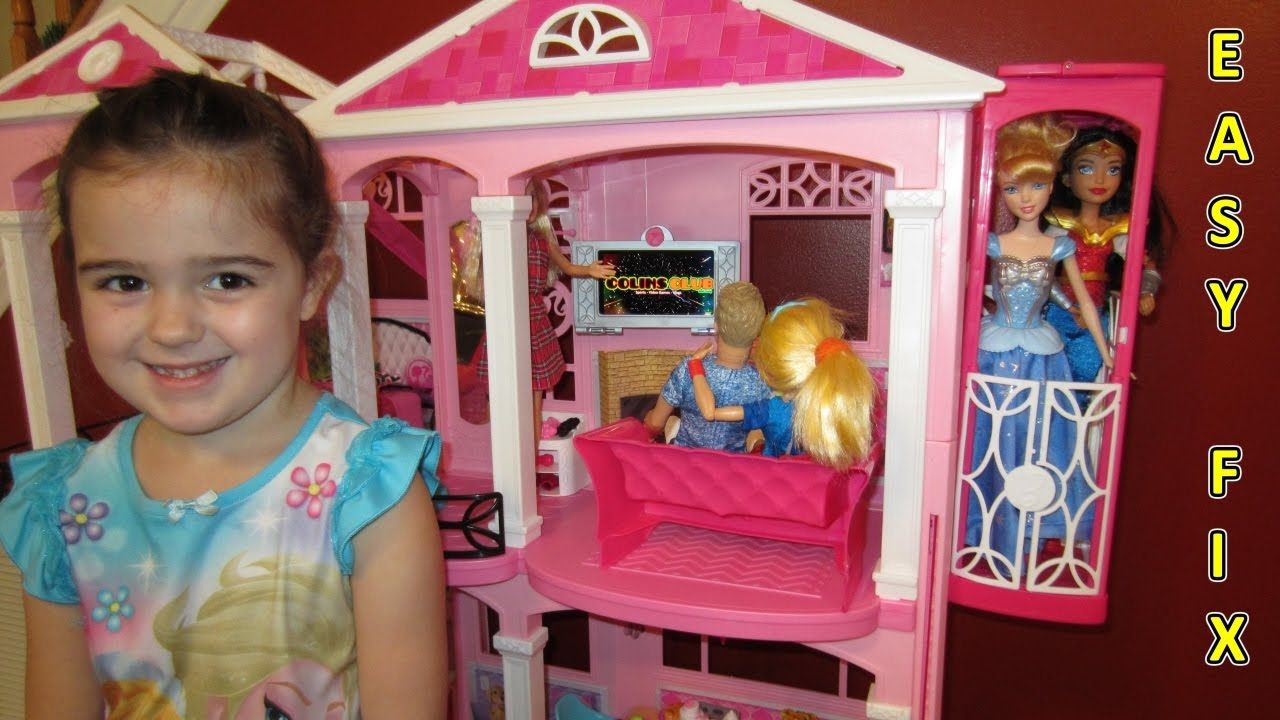 Barbie Dream House 1 Elevator Fix Easy Youtube