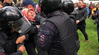 Полицию бьют - Питер 16 09 2018
