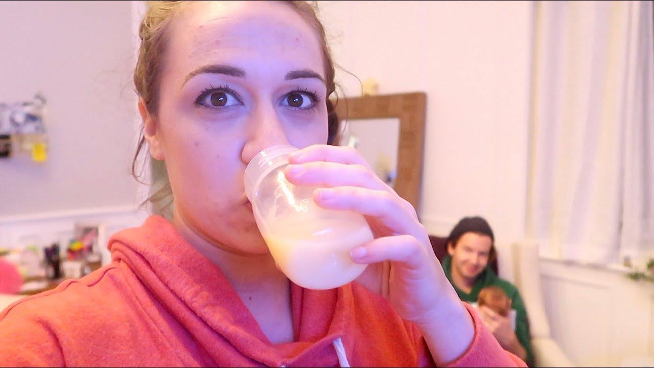 Drinking my breast milk!
