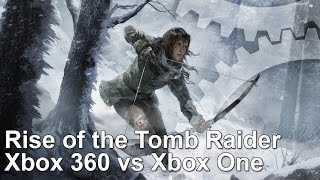 Rise of the Tomb Raider Xbox 360 vs Xbox One Frame-Rate Test