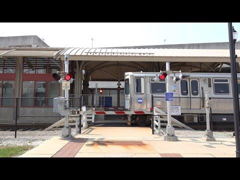 CTA Yellow Line West, Oakton - Skokie Station Pedestrian Crossing, Skokie IL