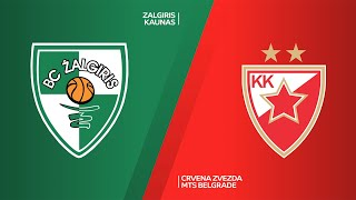 Zalgiris Kaunas - Crvena Zvezda mts Belgrade Highlights | Turkish Airlines EuroLeague RS Round 24