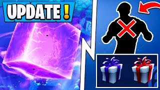 *NEW* Fortnite Update! | Gifting System, Deleted Skins, CUBE Cracking!