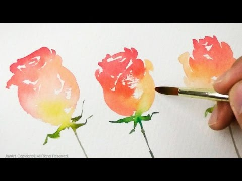 Simple Rose Painting Level 2