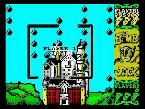 Bomb Jack Walkthrough, ZX Spectrum - YouTube