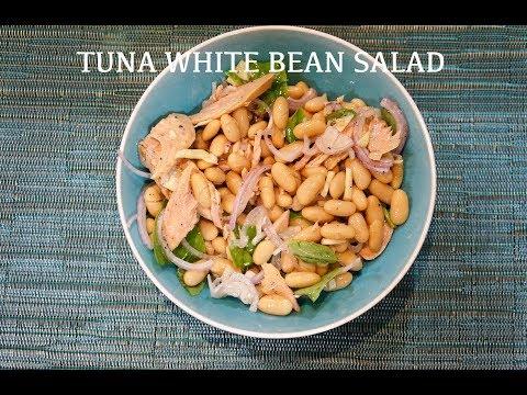 Easy Tuna White Bean Salad Recipe tuna cannellini italian white bean salad