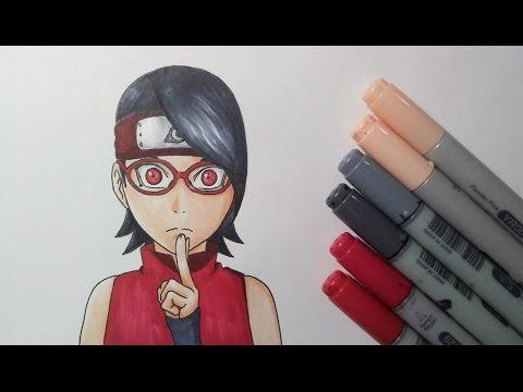Drawing Sarada Uchiha - Boruto: Naruto The Movie