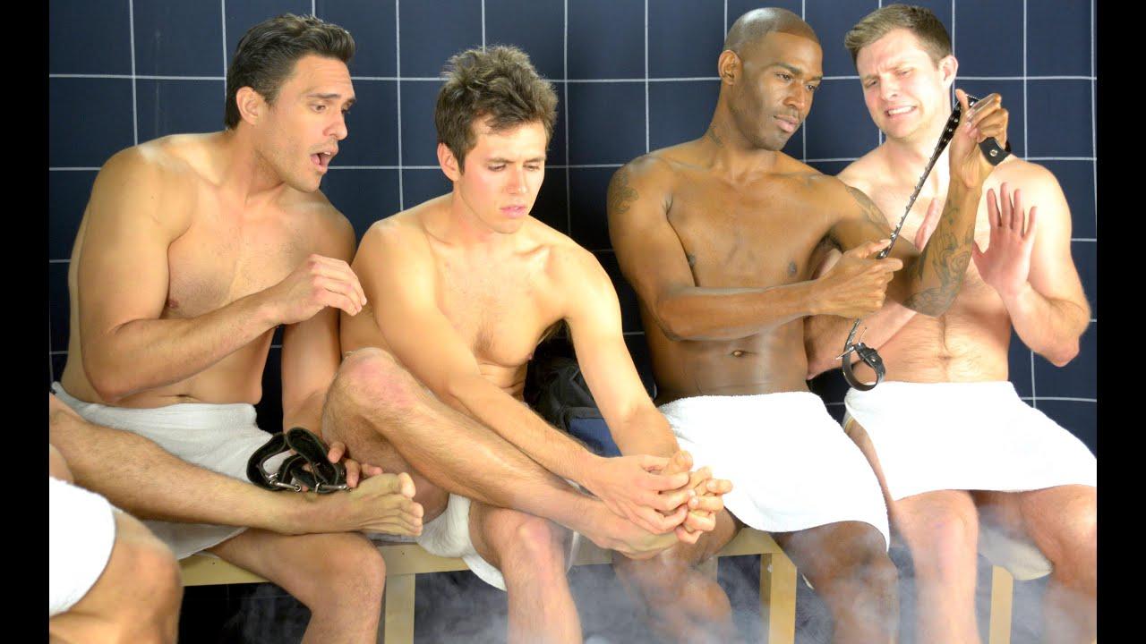 Мужском в душе трахаются геи