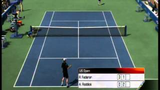 Top Spin 3 - Roger Federer vs. Andy Roddick (Very Hard Difficulty)