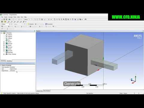 ANSYS DESIGN MODELER - Projection - Basic Tutorial 10 by CFD