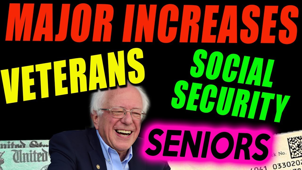 HUGE INCREASE for Social Security, Seniors, Veterans Benefits, SSI SSDI, 4th Stimulus Check Update