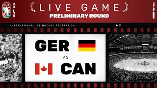 Germany – Canada | Live | Group B | 2021 IIHF Ice Hockey World Championship