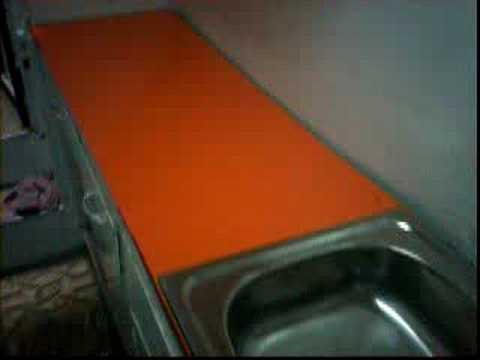 Fomica pegada en mueble de cocina con lavadero youtube for Lavadero de cocina con mueble