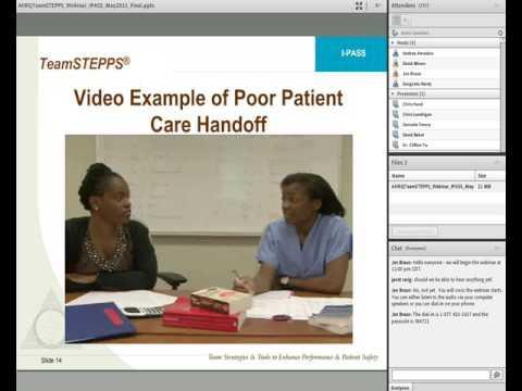 I-PASS: Integrating High Quality Handoffs into TeamSTEPPS and Hospital Care