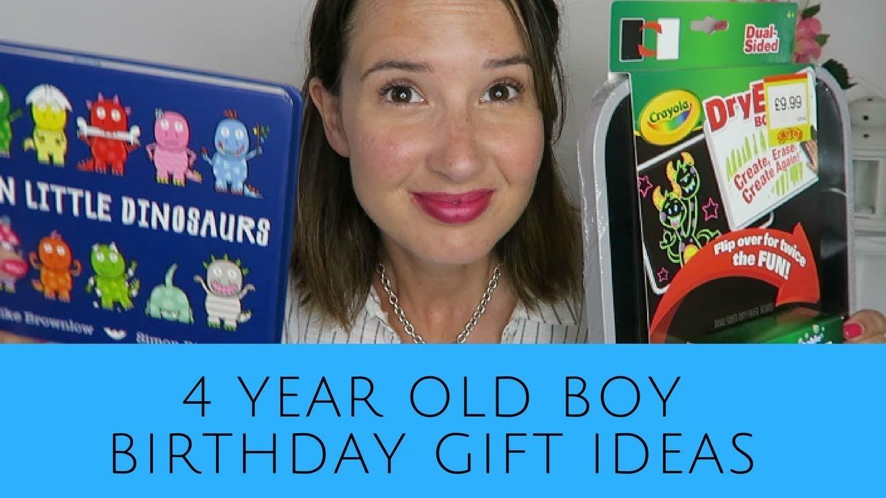 Four Year Old Boy Birthday Gift Ideas