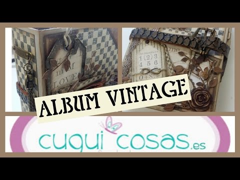 TUTORIAL SCRAP. ALBUM VINTAGE MASCULINO (O NO!)