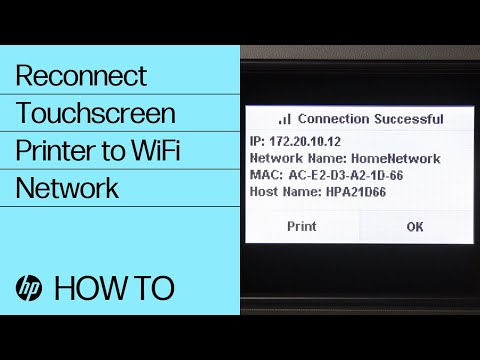 Reconnecting a Touchscreen Printer to a Wireless Network | HP Printers | @HPSupport