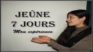 JEUNER DURANT 7 JOURS SEULE  //SEC PUIS HYDRIQUE// MON EXPERIENCE