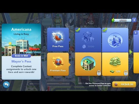 SimCity BuildIt Mayor Pass Update