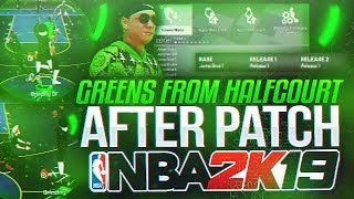 MOST OVERPOWERED JUMPSHOT AFTER ALL PATCHES!! AUTOMATIC GREENS WITH THE BEST JUMPSHOT ON NBA 2K19!!