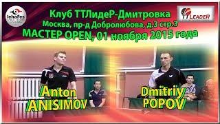 Master Open Dmitriy POPOV - Anton ANISIMOV TTLideR Table Tennis