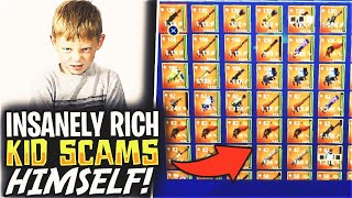 Insanely Rich Kid Scams Himself! (Scammer Gets Scammed) Fortnite Save The World