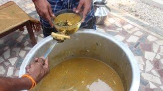 Indian Street food - Making of Mutton Bone Soup for 250 people - Lamb Leg  Soup
