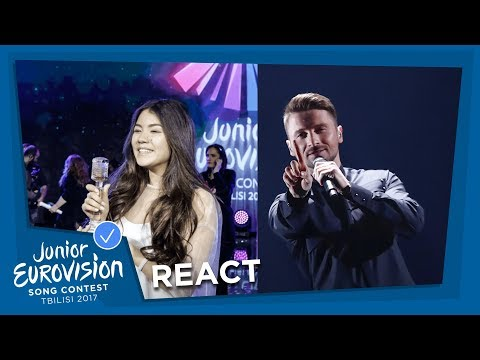 POLINA BOGUSEVICH FROM RUSSIA REACTS TO SERGEY LAZAREV'S EUROVISION ENTRY
