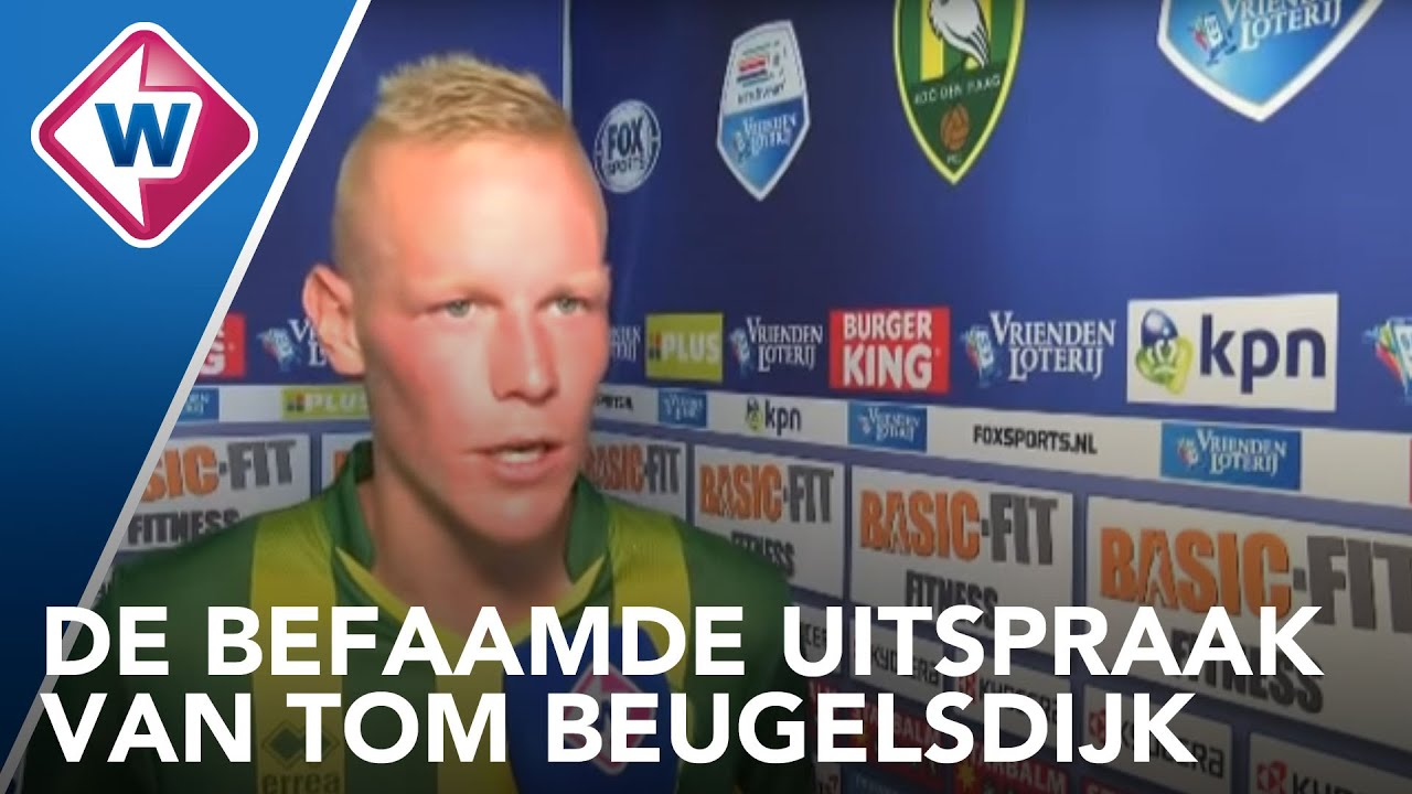 Reactie Ado Speler Tom Beugelsdijk Na Ado Den Haag Fc Utrecht Rustaagh Omroep West Youtube