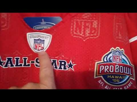 2005 NFL PRO BOWL AFC ALL STAR AUTHENTIC RETAIL REEBOK FOOTBALL JERSEY