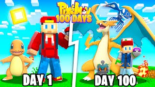I Spent 100 Days in MINECRAFT PIXELMON... Here's What Happened!