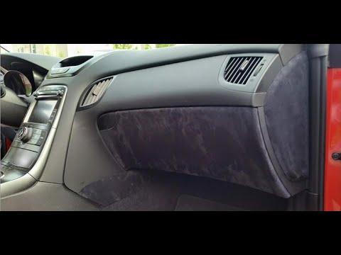 Genesis Coupe Alcantara Interior Trim Install - Lower Dash