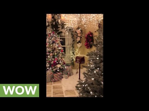 Family uses entire outdoor decorations to create Christmas wonderland inside!