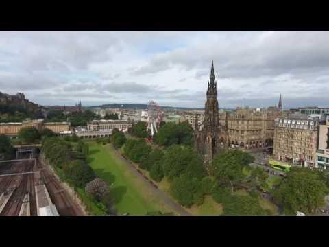 Edinburgh City Center 4K Drone Tour 2016 Part 1 of 4