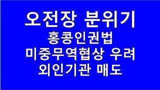 [주식투자]오전장 분위기(홍콩인권법/미중무역협상 우려/…