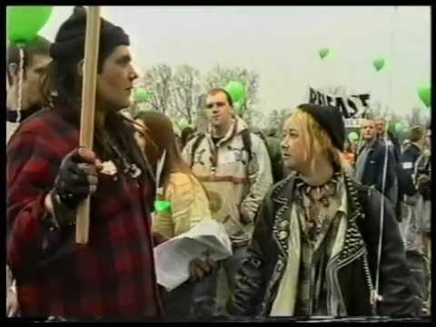 The Independent On Sunday's Decriminalise Cannabis demo 1998