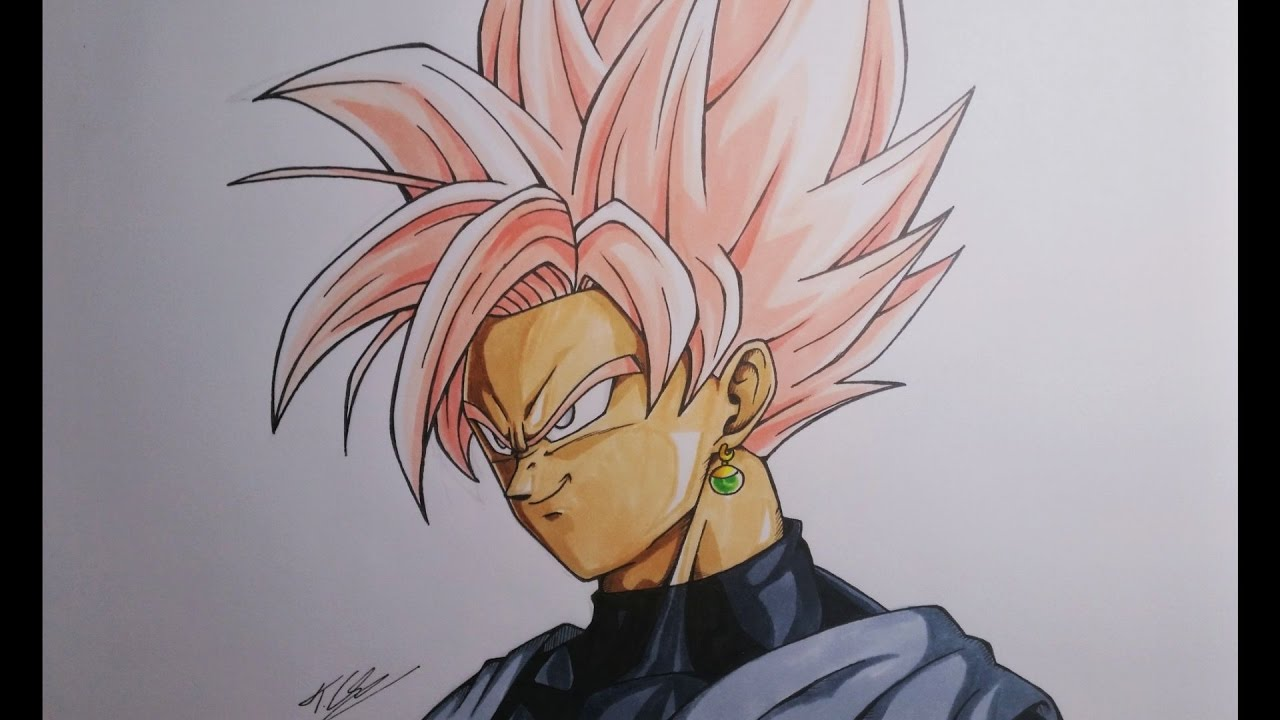Goku Super Saiyan Para Colorear: Goku Black Ssj Rose Para Colorear