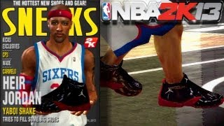 NBA 2K13: MY NEW SNEAKERS, CREATION & COMMERCIAL | (Bonus Gameplay)