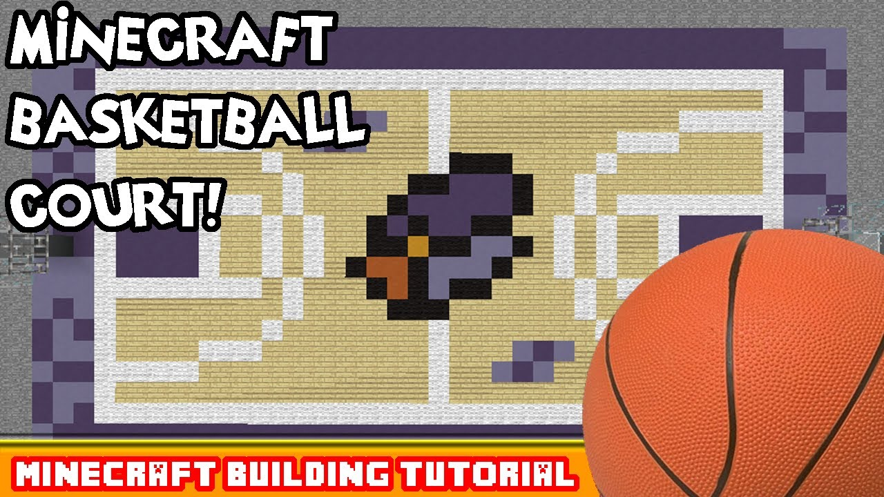 Minecraft building tutorial how to build a basketball for How to build basketball court