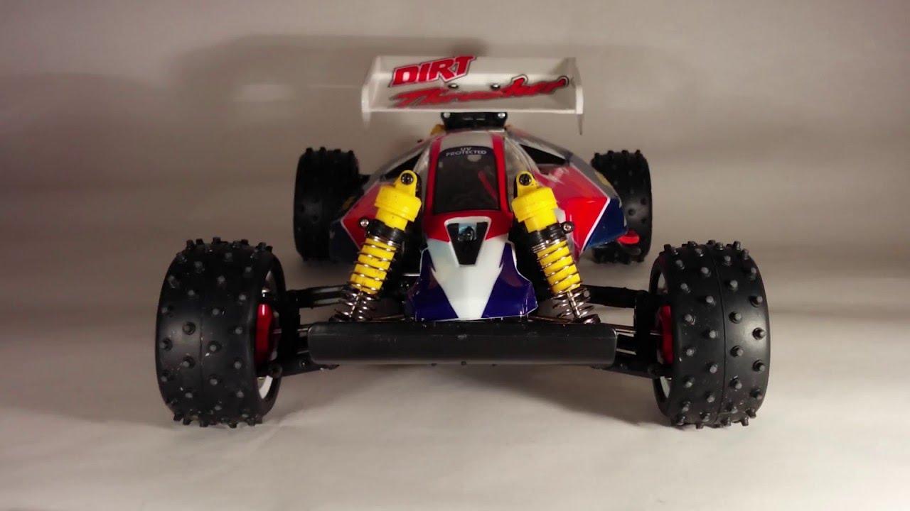 RC racing car Tamiya dirt thrasher 4x4 - YouTube