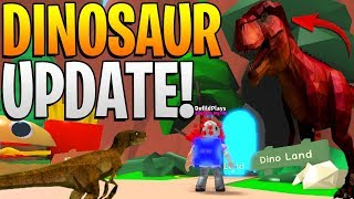 ROBLOX MINING SIMULATOR - DINOSAUR LAND UPDATE! *THIS IS INSANE*