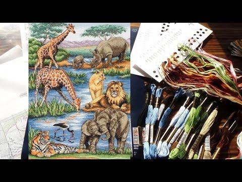 """Anchor Maia """"Африканская дикая природа"""" (African Wildlife) Обзор набора"""