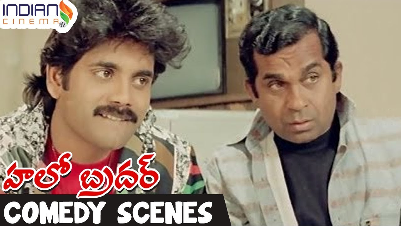 Telugu Comedy Scenes | Brahmanandam Comedy | Nagarjuna | Best Funny Videos | Hello Brother Film