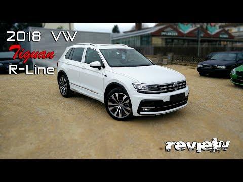 2018 VW TIGUAN R-Line Pure White 2.0TSI